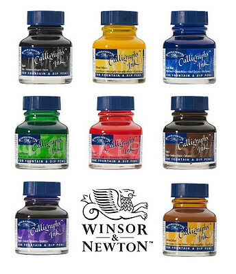 Winsor & Newton Calligraphy Fountain & Dip Pen Ink 30ml - All Colours Available