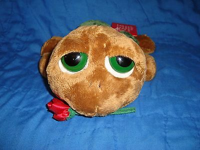 "Russ Peepers Turtle Shelby W/Rose & heart 9"" long x 3.5"" tall W/tags"