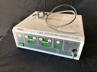 Stryker 30L High Flow Insufflator 620-030-500 w/ Yoke & Connecting Hose