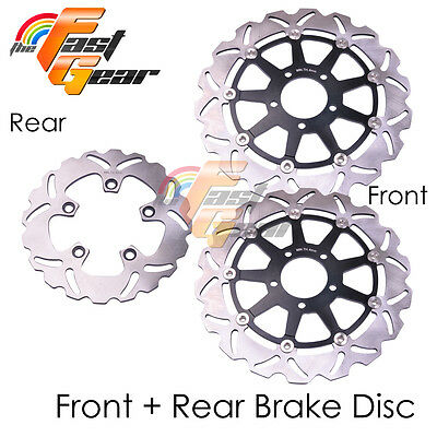 Front Rear SS Brake Disc Rotor Set For Suzuki GSXR 750 SARD 96 97 98 99