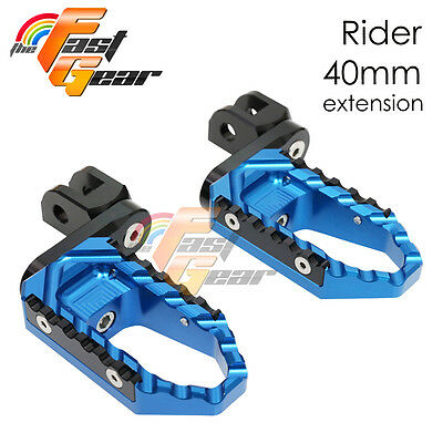 Multi Step Blue 40mm Tour Front Foot Pegs Fit Buell S1 Lightning All year