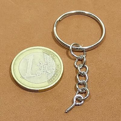 22 Rings Keychain 25mm With Chain and ring T51X Keyring Eyebolt Eye bolt Mini