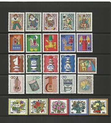 Germany Berlin ~ 1970-74  Humanitarian Relief Issues (Mint Mnh)