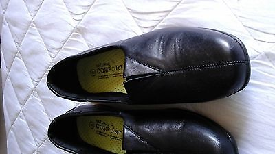 Ladies black leather shoes.natural comfort. size 8