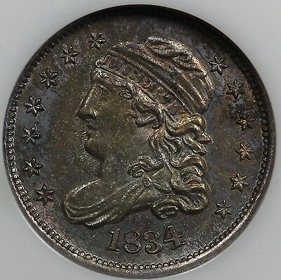 1834 H10C Capped Bust Half Dime NGC MS 64 CAC STICKER