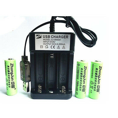 USB 3 solts Universal Charger for AA Ni-MH Ni-Cd rechargeable Battery Charger CN