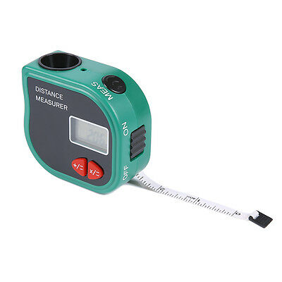 IR Ultrasonic Digital Distance Laser Meter Rangefinder Measure Diastimer W/ Tape