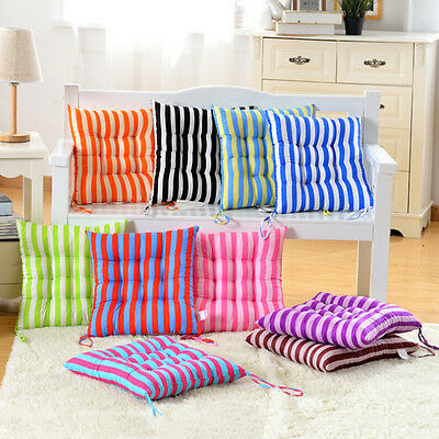 Outdoor Dining Garden Patio Home Kitchen  Chair Seat Striped Pads Cushions  SN