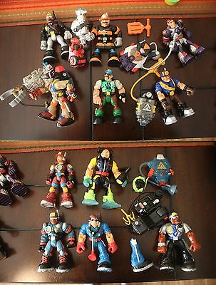 Rescue Heroes Lot: Action Figures Vehicles Accessories dale horse fisher price