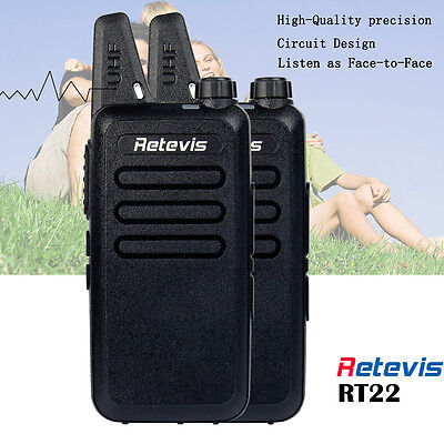 Paire Walkie Talkie Retevis RT22 UHF 16 Canaux CTCSS/DCS VOX Squelch 2-Way Radio