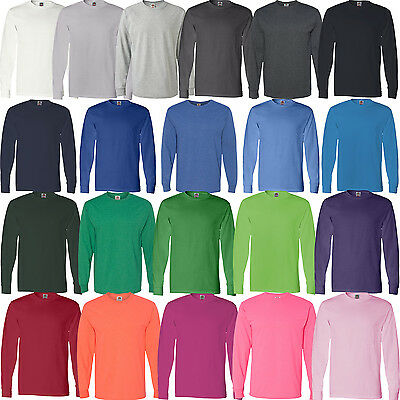 Fruit of the Loom - 100% cotton HD Cotton Unisex Long Sleeve T-Shirt - 4930R