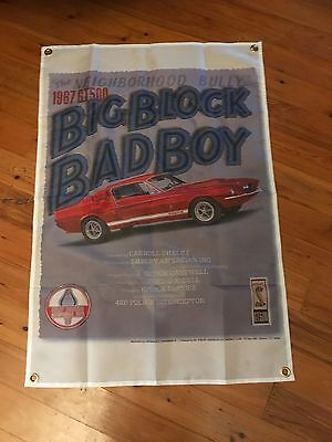 mustang ford moffat Bathurst  pool room sign Australia 3x2 foot man cave flag