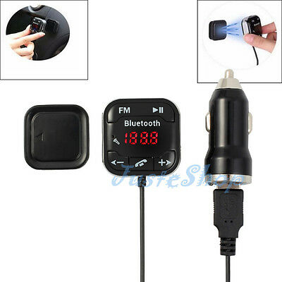 Wireless Bluetooth V4.0 Car FM Transmitter Kit Auto Magnet Handsfree For MP3 SD