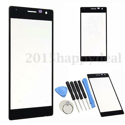 Black Front Touch Screen Outer Glass Lens Replacement For Nokia Lumia 730 735