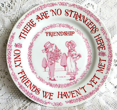 Vintage Bone China Plate Friendship 'there Are No Strangers Here' Kate Greenaway