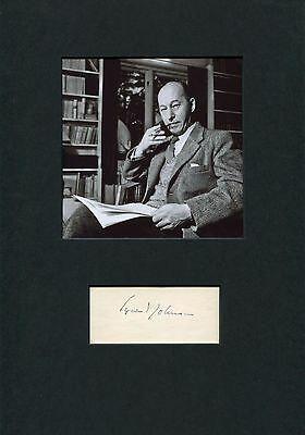 NOVELIST Eyvind Johnson NOBEL PRIZE IN LITERATURE 1974 autograph, signed card mo