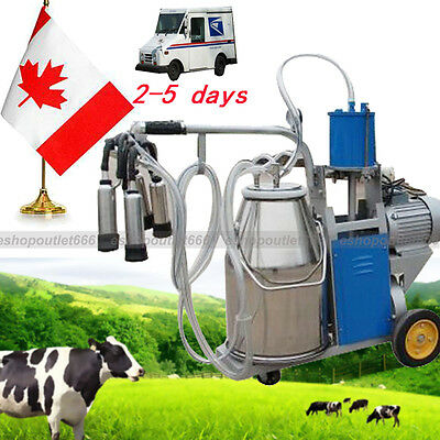 New 25L Electric Milking Machine For Farm Cows Stainless Steel Bucket FDA -CA