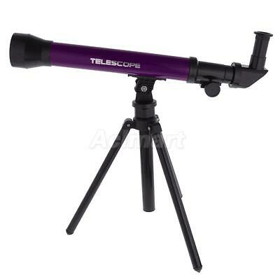 Children's Astronomical Telescope with Tripod 20x/40x/60x Power 30mm Purple