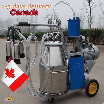 CA-25L Electric Milking Device Farm Cows Cattle-Dairy Stainless Steel Bucket New