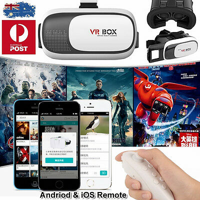 3D VR Virtual Reality Glasses Movie Game Control Set For iPhones 6S Plus 7 6 SE