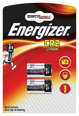 Energizer CR2 Lithium Photo Batteries - Pack of 2  Free Post Same Day Dispatch