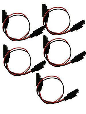 5 PCS 18 Gauge 2 Pin Quick Disconnect Wire Harness SAE Connector For Car