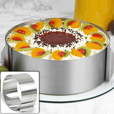 Retractable Stainless Circle Mousse Ring Mould Baking Set Cake Mold Adjustable