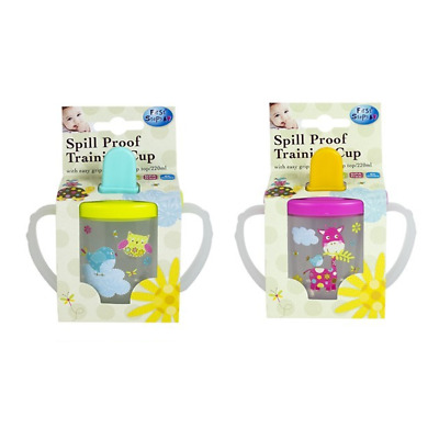 First Steps Spill Proof Baby Drinking Cup Toddler Easy to Hold Handles