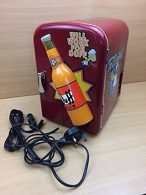Official Simpsons Homer Simpson Duff Beer Mini Hot/Cold Fridge Fully Working
