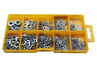Resolut 500 Piece Assorted Spring & Flat Washers 2951