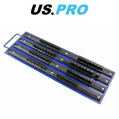 "US PRO 80pc 1/4"" 3/8"" 1/2"" Socket Tray Rack Socket Storage Rail 1681"