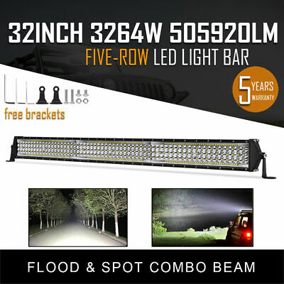 420W 32 INCH Curved LED WORK LIGHT BAR COMBO Offroad Truck SUV Jeep Ford CREE 30