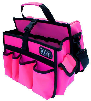 Wahl Hot Pink Dog Cat Mobile Store Grooming Tool & Accessory Bag Shoulder & Carr
