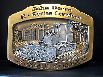 2000 John Deere Dubuque H Series 450H Crawler Tractor Belt Buckle Ltd Ed 15/500
