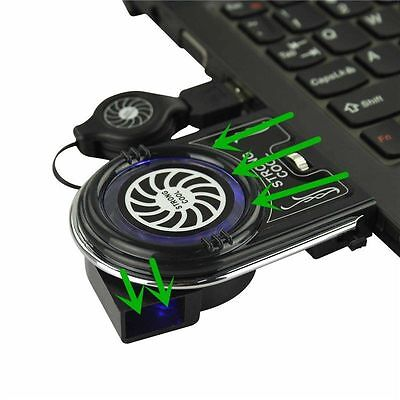 Mini Ventilateur Froid Refroidisseur USB LED Fan Pr PC Laptop Ordinateur Noteboo
