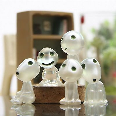 Luminous 5 PCS Princess Mononoke Forest Plant Spirit Elf Kodama Glow in Dark