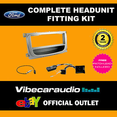 Connects2 CTKFD60 Ford Focus Mondeo Din Stereo Silver Fascia Stalk Fitting Kit