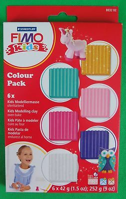 FIMO kids Modelliermasse-Set Colour Pack girlie, 6er Set