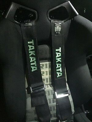 Black 3inch racing Harness - Approved - 4 Point Harness With A 4 Point Lock BELT