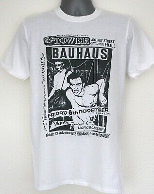 bauhaus t-shirt gig flyer joy division current 93 the cure sisters of mercy