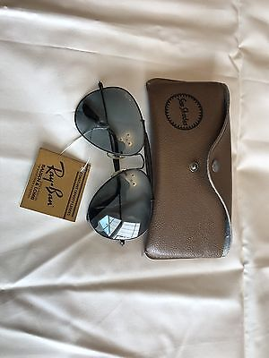 Used Vintage Ray-Ban B&l Aviator Sunglasses With Case
