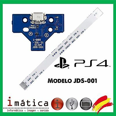 Flex + Placa Conector De Carga Usb Para Mando Ps4 Play Station Jds-001 14 Pin