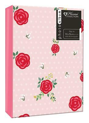 Floral Pink Album (6x4'') Holds 80 Photos Gift picture Photo Book