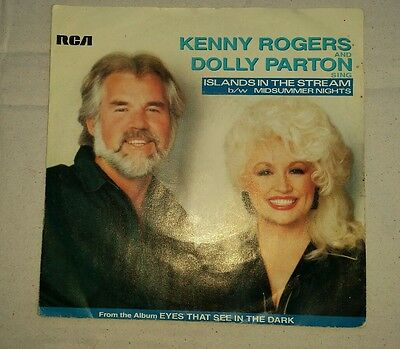 "Kenny Rogers and Dolly Parton - Islands 7"" Vinyl Record Country Music Single"