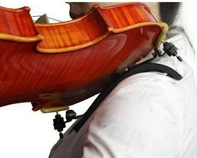 Violin Support Shoulder Rest Wooden Pad String Adjustable Case Bow Bon Style