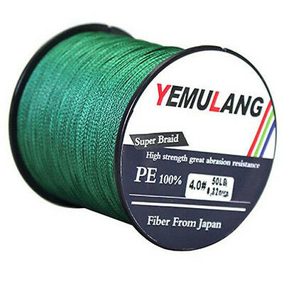 100% PE Fishing Line100M 300M 500M 1000M 4 Strand Spectra Dyneema Braid Green