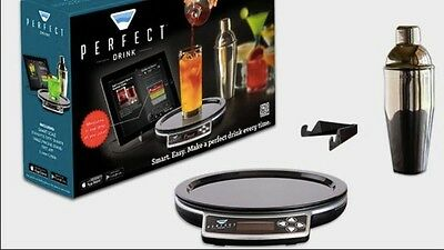 New-Brookstone Perfect Drink App-Controlled Smart Bartending W/shaker & Recipes