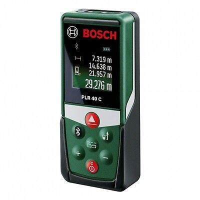 Bosch PLR40 C Digital Laser Measure with Blutooth measures upto 40 metres