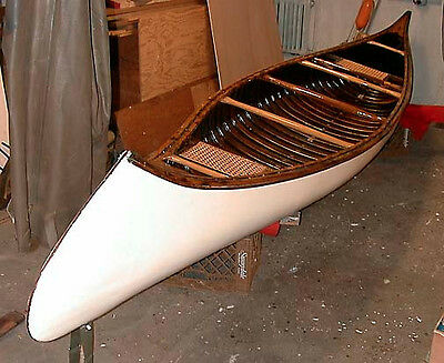 Classic Kennebec Wood and Canvas Canoe