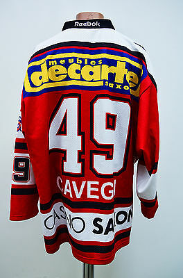 Ehc Visp Switzerland Swiss Ice Hockey Shirt Jersey Reebok Cavegn #49